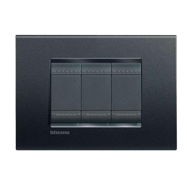 Interruptor Bticino Livinglight Anthracite - 10 Unidades