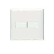 Interruptor Bticino Thesi Up Branca 2 módulos 4x4 - 10 Unidades